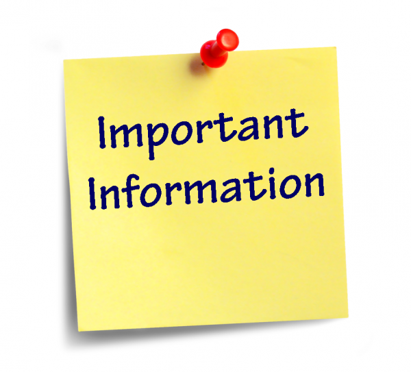 Important information logo